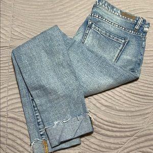Clean light denim pants